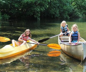 Boating is part of the fun at Sacajawea Day Camp in Monmouth County, run by the Girl Scouts of America.