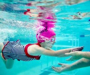 SafeSplash Swim School offers year-round swim lessons in warm-water indoor pools.