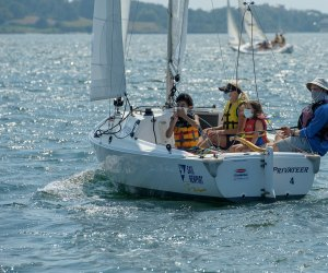 Sailing is always on the agenda in Newport. Photo courtesy of Sail Newport