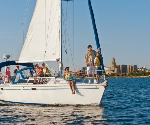 Water sports along Lake Erie draw families to this upstate city. Photo courtesy of Dylan Buyskes