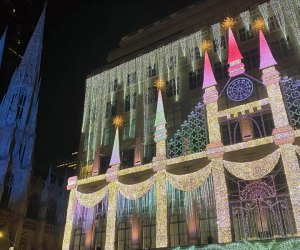 Saks Fifth Avenue's nightly light shows add to the holiday magic at Rockefeller Center. Photo by Jody Mercier