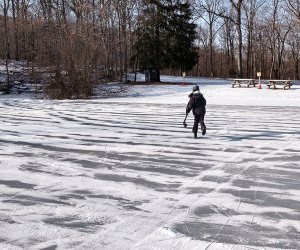 Play hockey or twirl on the ice at Sal J. Prezioso Mountain Lakes Park in North Salem.