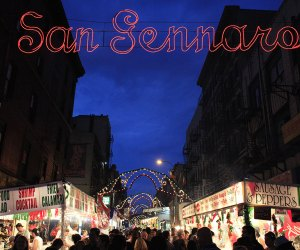 Live music, Italian delicacies, and a cannoli-eating competition — no wonder the Feast of San Gennaro is the longest-running fest in New York City history. Photo by Joe Buglewicz for NYCgo