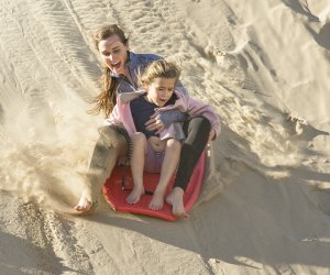 Sled the sand berms