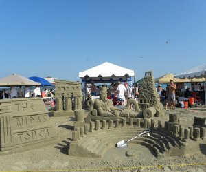 Get pointers from the experts during Stewart Beach's Sandcastle Building Lessons./Photo courtesy of Galveston CVB.