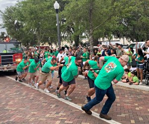 It's feats of strength at Sanford's St. Patrick's Day truck pull. Photo courtesy of Sanford365.com