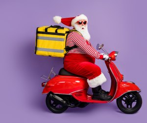 I'm sure Santa's not too busy to drop off your Christmas dinner!