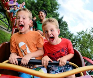 Rudy's Rapid Transit Roller Coaster delivers crazy fun. Photo courtesy of Santa's Village