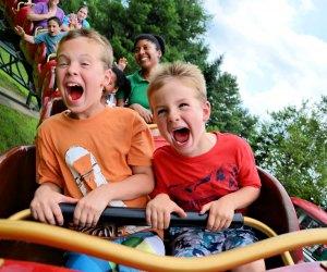 (Pre-pandemic photo) Rudy's Rapid Transit Roller Coaster delivers crazy fun. Photo courtesy of Santa's Village