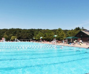 Make a splash at Saxon Woods Pool in White Plains. It's the biggest of Westchester County's pools. Photo courtesy of Westchester County Parks