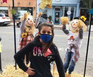 Visitors can get ready for the season with a visit to the 14th annual Scarecrow Stroll in Cranford. Photo by the author