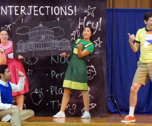 Learn history, grammar, science, math, and more at a live production of Schoolhouse Rock. Photo courtesy of the production