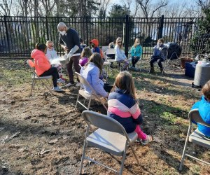 Science Museum of Long Island Kids Learning in an outdoor activity