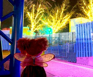 Visit Sesame Place and watch the sky light up with fireworks. Photo courtesy of Sesame Place