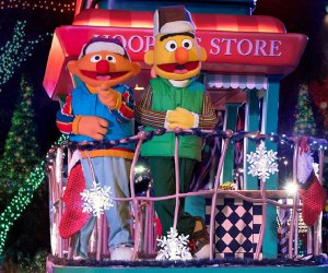 Join your Sesame Street pals for A Very Furry Christmas display and show. Photo courtesy of Sesame Place