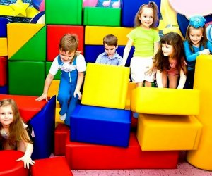 Kids N' Shape has fabulous 2-hour birthday parties where kids can romp in soft blocks.  Photo courtesy of the venue