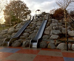 Catch some speed on the massive slides at Lieutenant John H. Martinson Playground.