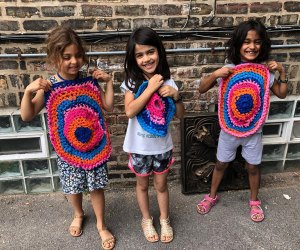 Kids can try knitting or crochet classes at Sisters Art Studio.