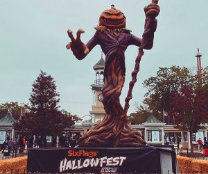 Be prepared for scary rides, zombies, and more Halloween fun at Six Flags Hallowfest. Photo courtesy of Six Flags