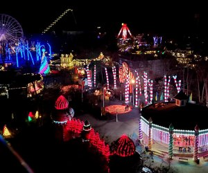 Six Flags Great Adventure transforms into a holiday wonderland. Photo courtesy of Six Flags