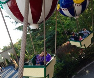 """Six Flags has rides ranging from """"mild"""" to """"max"""" on the thrill meter; these soaring balloons are on the milder side"""