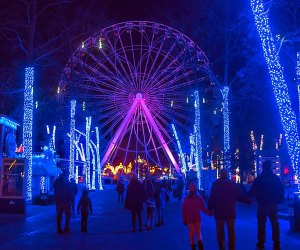 Six Flags will be all lit up for Holiday in the Park Saturday through Monday. Photo courtesy of Six Flags Great Adventure