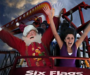 See Santa at Six Flags' Holiday in the Park through Tuesday, December 31. Photo courtesy of Six Flags Great Adventure