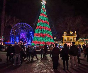 Six Flags Great Adventure lights up this weekend for Holiday in the Park. Photo courtesy of Six Flags!