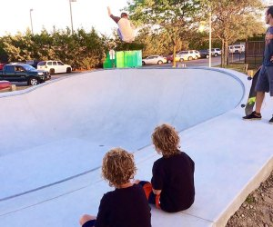Kids young and old will thrill to the action at Long Beach Skate Park. Photo by Brian Bachisin