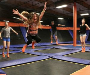 Who said kids were the only ones who love entertainment centers?! Photo courtesy Sky Zone