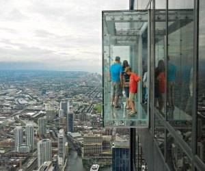 Dare to hang on the Ledge at Willis Tower's Skydeck Chicago. Photo by Robert Lyle Bolton/Flickr
