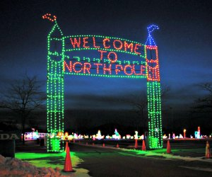 Skyland Stadium's annual holiday light show dazzles with more than two million lights. Image courtesy of the venue.