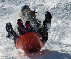 Sledding in Central Park is one of our favorite free things to do in NYC
