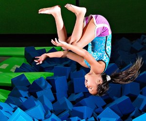 Thrill to the expansive play area at Bounce! Trampoline Sports. Photo courtesy of the venue
