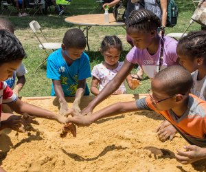 Archeological dig at the Smithsonian Folklife Festival. Photo by Stanley Turk, Ralph Rinzler Folklife Archives