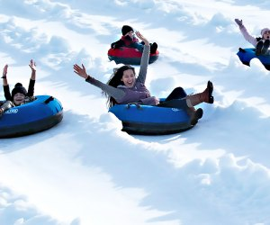Thrill to  fun in the snow at Snow Island in Roswell. Photo courtesy of Lanier Islands