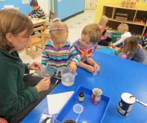 Kids can do hands-on learning at the South Shore Natural Science Center. Photo courtesy of South Shore Natural Science Center