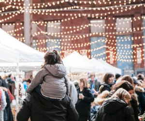 Holiday shopping for interesting gifts at the SoWa Winter Festival. Photo courtesy of SoWa Boston