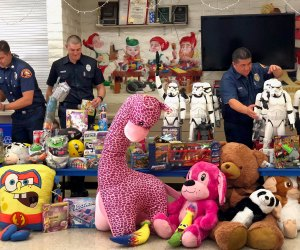 Spark of Love Toy Drive. Photo courtesy of County of Los Angeles Fire Department