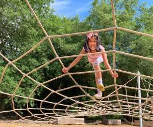 Climbing the spiderweb. Photo by Vicki Li Yip