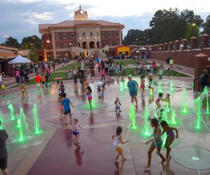 At Splash Fest families can bring food, listen to live music, and play in the Bowl at Sugar Hill's Splash Park. Photo courtesy of Sugar Hill, Georgia