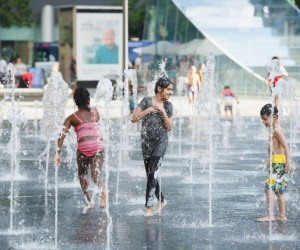 Kids can cool down at a Philly splash pad once again. Photo by Matt Stanley for Center City District