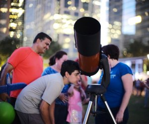 Spend some time gazing up at the stars with the Houston Astronomical Society at Discovery Green. Photo courtesy of Daniel Ortiz.
