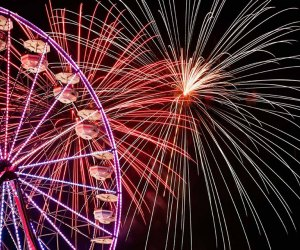Celebrate the 4th of July at the Meadowlands with fireworks galore! Photo courtesy of the fair