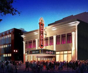 State Theatre New Jersey celebrates its centennial in December and is marking the occasion with a brand new blade marquee, which is just one of the improvements in its $12 million overhaul.