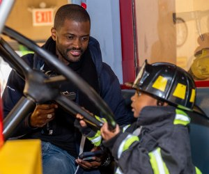 Be a firefighter at the Staten Island Children's Museum. Photo by Lance Rhea for the museum