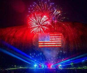 Stone Mountain hosts five nights of impressive fireworks. Photo courtesy of Stone Mountain