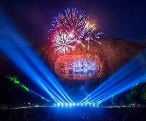 Fireworks light up the night at Stone Mountain Park. Photo courtesy of Stone Mountain