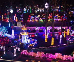 Storybook Land transforms into a twinkling wonderland for the holidays. Photo courtesy of Storybook Land