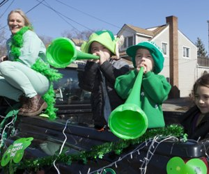 Wear your green and join the festivities at the St. Patrick's Day parade in Cutchogue. Photo courtesy of the event